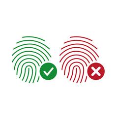 fingerprint icons identity finger print or vector image