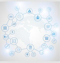 fintech internet concept vector image