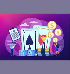 Gambling income concept vector
