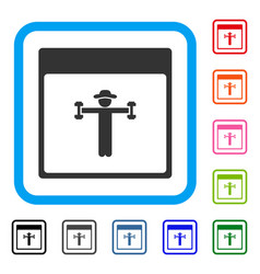 gentleman fitness calendar page framed icon vector image