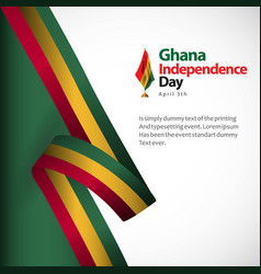 Ghana independence day template design vector
