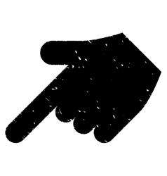 Hand Pointer Left Down Grainy Texture Icon vector