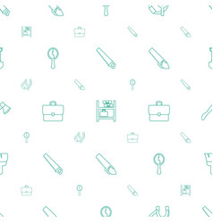 Handle icons pattern seamless white background vector