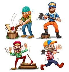 Hardworking woodmen vector