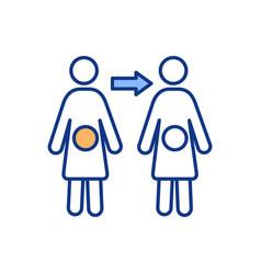 Human fertilization rgb color icon vector