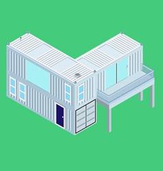 Isometric Container home vector