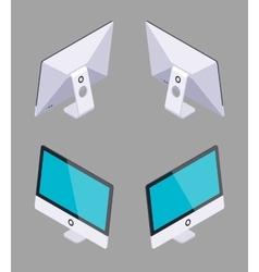 Isometric generic monoblock computer vector image