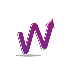 letter w business investment vector image