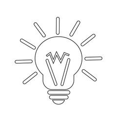 light idea icon vector image