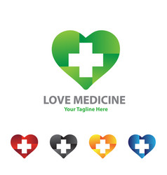 love medicine logo designs vector image