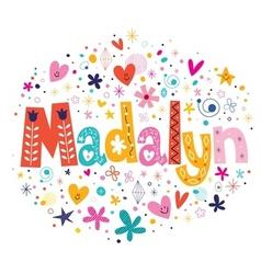 Madalyn vector image