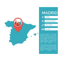 Madrid map infographic vector