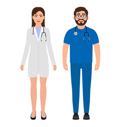 male doctor with a stethoscope around his neck vector image