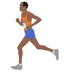 Marathon runnerdetailed vector