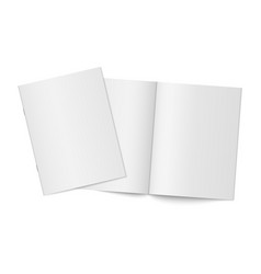 Mockup of two thin books with soft cover isolated vector