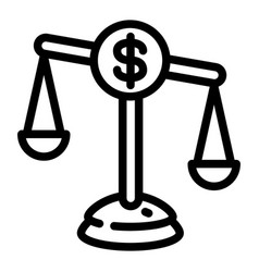 money balance icon outline style vector image