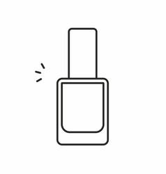 nail polish icon vector image
