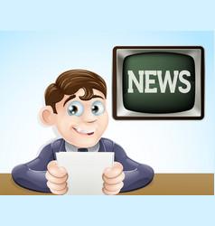 news reporter vector image