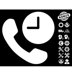Phone Time Icon with Tools Bonus vector