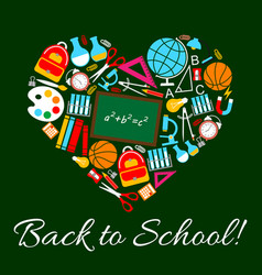 Poster for back to school autumn season vector