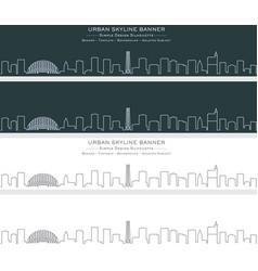 Raleigh single line skyline banner vector
