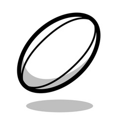 Rugby sport ball logo line 3d icon vector