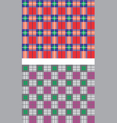 Seamless plaid patterns vector