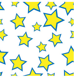 seamless yellow stars on the white background vector image