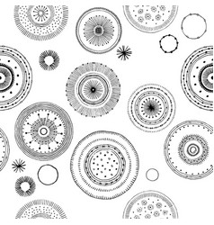 set drawing round graphic patterns vector image