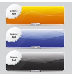 Sliders or banners vector