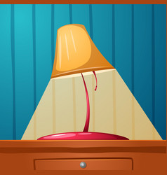 Table lamp is on the table wall-papers in the vector