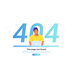 The page not found 404 error vector