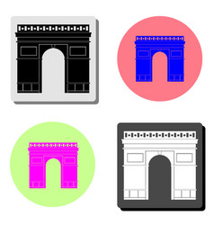 triumphal arch in paris france flat icon vector image