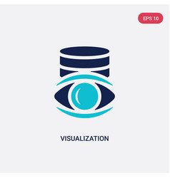Two color visualization icon from big data vector
