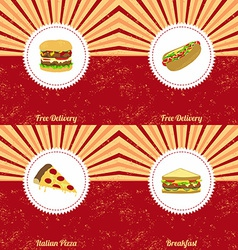 Vintage food theme vector