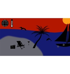 Warm Sea Sun Beach Vacation vector image