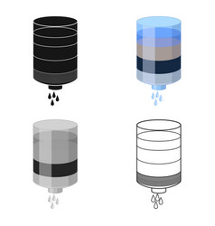 water filter cartridge icon in cartoon style vector image