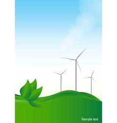 Wind generator green energy background vector