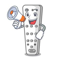 with megaphone character remote control for media vector image