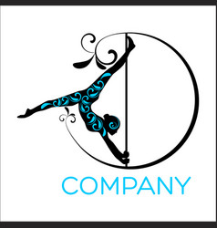 woman dancing on a pole logo vector image