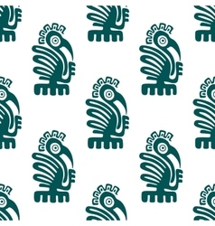 Ancient american indian birds seamless pattern vector image