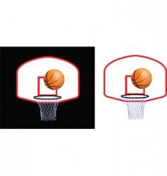 basketball hoop vector image vector image