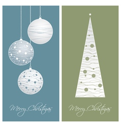 blue and green christmas card backgrounds vector image vector image