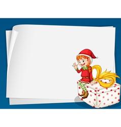 Elf card vector image vector image