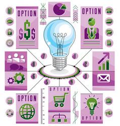 infographics template idea light bulb concept vector image vector image