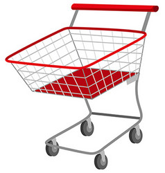 Shopping cart on white background vector image
