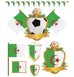 algeria flags vector image vector image