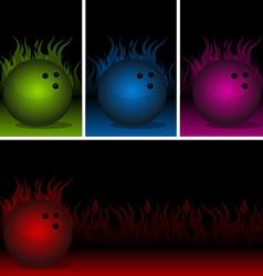 Bowling Flames vector image