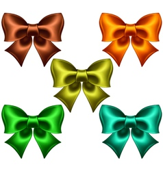 Colored bows vector image vector image