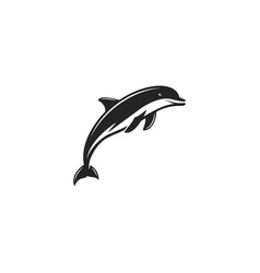 dlphin black icon silhouette symbol of dolphin vector image vector image